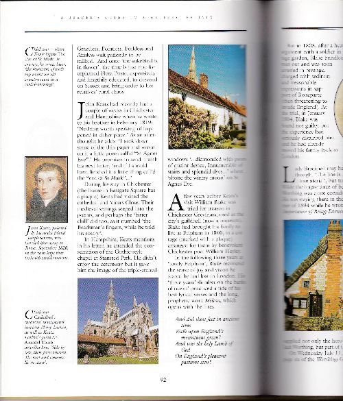 Photographs in Reader's Guide to Writers' Britain book