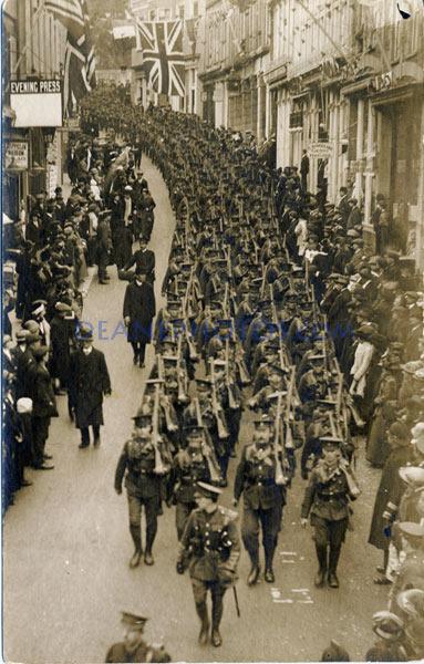 Departure Guernsey War Contingent-R--No wording