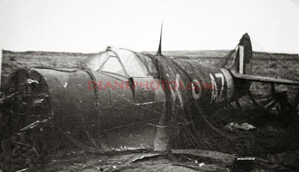 Spitfire Vb W3830 of 234 Squadron crash landed in Alderney