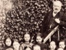 Victor Hugo with poor children - A close up of the previous image