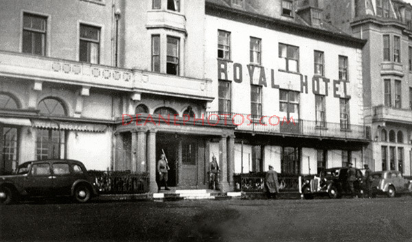 German Officer entering the Royal Hotel Guernsey