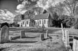Lockington Church in Spring Mono