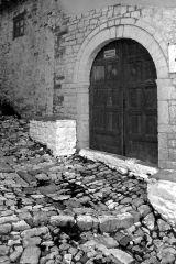 Cobblestone Street and Door, Berat