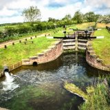 Canal lock at Coat's Bridge ~ Bielby mg 160