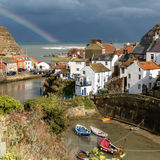 Staithes with Rainbow