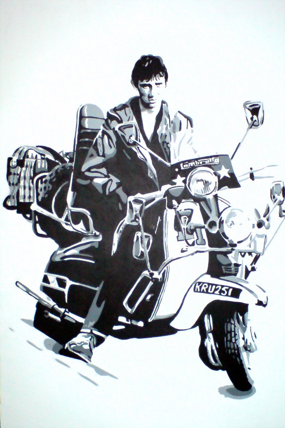 QUADROPHENIA - 'JIMMY' (PHIL DANIELS.) ON HIS LAMBRETTA. SIZE: 36