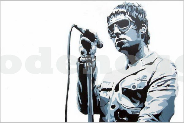 LIAM GALLAGHER - OASIS - ( GREY/BLUE.)SIZE: 36