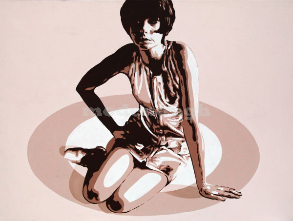 60'S SITTING TARGET MOD GIRL.