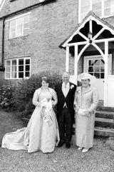 Bride with parents.