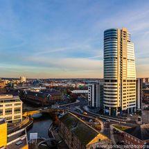 Bridgewater Place, Golden Sunset, Leeds Centre