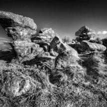 Brimham Rocks Monochrome. North Yorkshire, UK