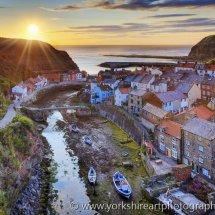 Staithes at Sunrise, North Yorkshire, UK