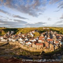 Staithes from Cowbar, North Yorkshire, UK