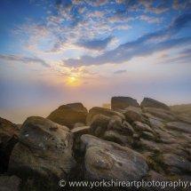 Misty Sunrise, Otley Chevin, West Yorkshire, UK