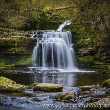 West Burton waterfall, North Yorkshire, UK