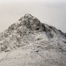 First Snow on Buchaille Etive Mor, Glencoe, Highland, Scotland, UK