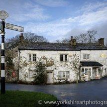 Cottage and village shop, Malham,  Yorkshire Dales, UK