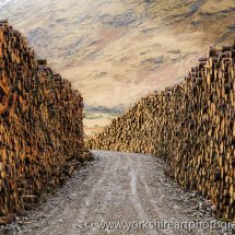 Logging Road. Glen Etive, Highland, Scotland UK