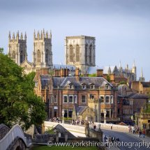 York Minster from the city walls. York, UK