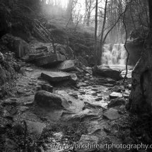 Goit Stock waterfall. Harden near Bingley. West Yorkshire.