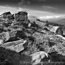 Surprise View Monochrome. Otley Chevin, West Yorkshire, UK