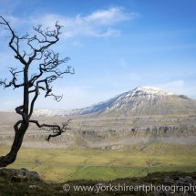Inlebourough Hill, from Twistleton Scar, Yorkshire Dales, UK
