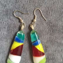 Hand Made Recycled Glass Earrings