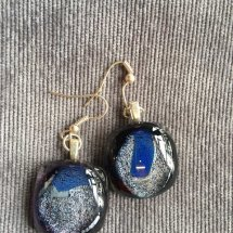 Hand Made Dichroic Glass Earrings