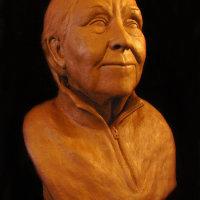 Portrait of Elaine Morgan MA (Oxon), FLS, FRSL, OBE.