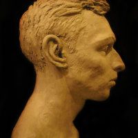 Portrait sculpture of Adam