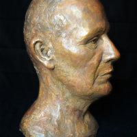 portrait sculpture Bernard sideview