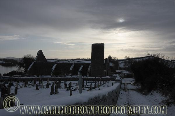 Drumlane Abbey In Winter, Milltown, County Cavan, Ireland.