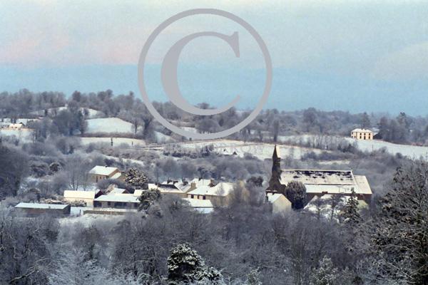 Milltown village in Winter