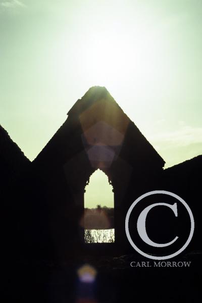 East Window of Drumlane Abbey, County Cavan, Ireland