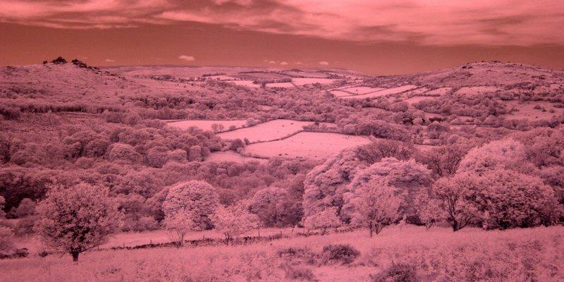 Dartmoor IR (Hound Tor on left)
