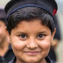 Schoolboy smile