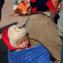 Baby in market