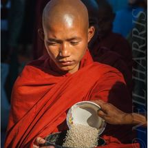 Monk at alms