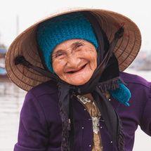 Smiling ferrywoman