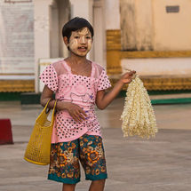 Temple flower seller