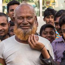 Beard pulling