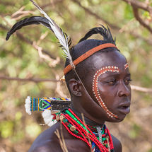 Bull jumping initiation ceremony - Painted face