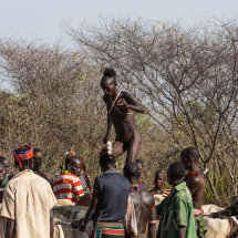 Bull jumping initiation ceremony - Jumping the bulls