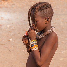 Himba - Girl with balloon