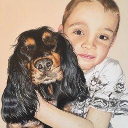 """12""""x16"""" Coloured Pencil Portrait"""
