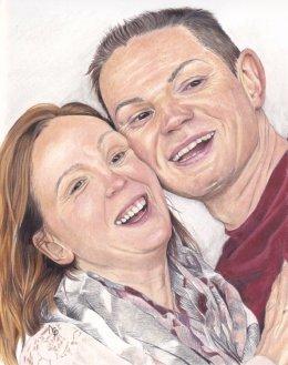 """8""""x10"""" Coloured Pencil Portrait"""