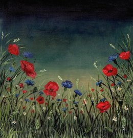 Poppies at Dusk Original Painting £36.99 SOLD Prints available