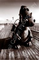 Mumbles Pier Sepia Portrait 01