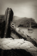Old fishing boat at Lulworth Cove