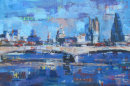 City Skyline over Waterloo Bridge I